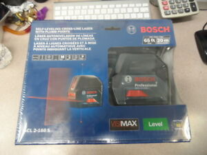 Bosch Gcl 2 160 S Self leveling Cross line Laser W Plum Points 65ft 20m New