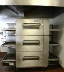Three 3 lincoln 1600 Pizza Oven Italian Restaurant Equipment Bundle