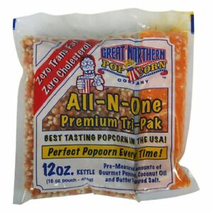 Great Northern Popcorn 12 Oz Cinema Popcorn Portion Packs Case Of 24