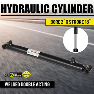 Hydraulic Cylinder 2 Bore 18 Stroke Double Acting Top Black Transportation