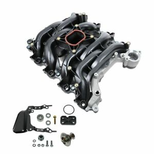 New For Ford Lincoln Mercury 4 6l V8 Intake Manifold W Thermostat