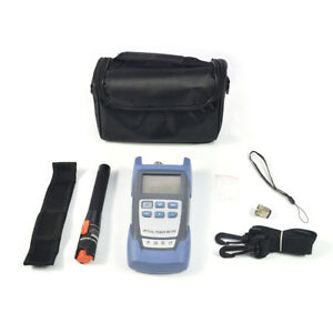 Top Fiber Optical Power Meter And 10km 10mw Visual Fault Locator Cable Tester