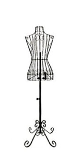 Female Black Steel Wire Mannequin Dress Form 32 22 32 On Decorative Stand 0004