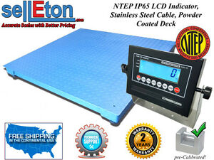 New Ntep Legal Industrial Warehouse 48 X 48 4 X 4 Floor Scale 2000 X 5 Lb