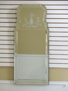 F45611ec Labarge Venetian Etched Glass Decorative Mirror