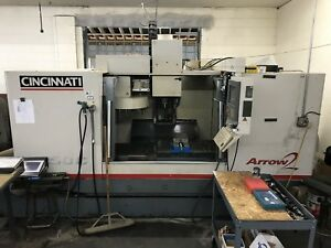 2000 Cincinnati Arrow 1250 Cnc Vmc 50 X 20 8000rpm Ct40 Acramatic 2100