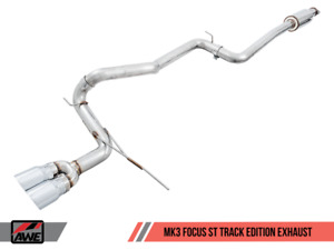 Awe Tuning Track Exhaust For Ford Focus St Silver Tips