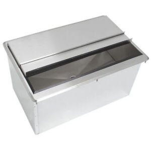 24 X 18 Stainless Steel Drop In Ice Chest Bin