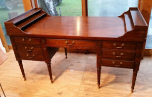 Drexel Large Vintage Mahogany Office Desk Good Condition