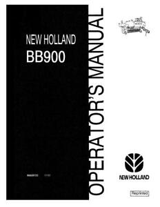 New Holland Bb900 Baler Operator s Manual