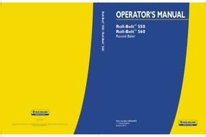 New Holland Roll belt 550 Roll belt 560 Round Baler Operator s Manual
