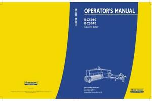 New Holland Bc5060 bc5070 Square Baler Operator s Manual
