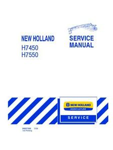 New Holland H7450 h7550 Discbine Disc Mower Conditoner Service Manual