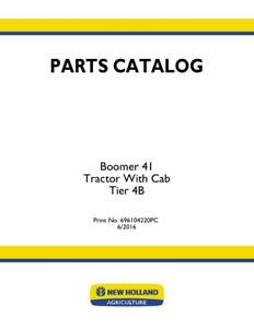 New Holland Boomer 41 Tractor With Cab Tier 4b Parts Catalog