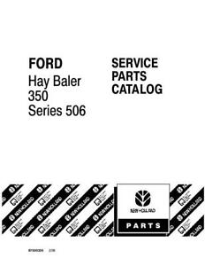 New Holland 350 Series 506 Hay Baler Parts Catalog