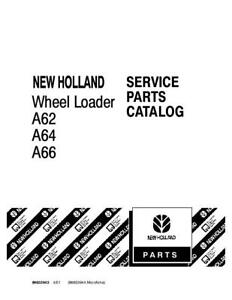 New Holland A62 a64 a66 Wheel Loader Parts Catalog