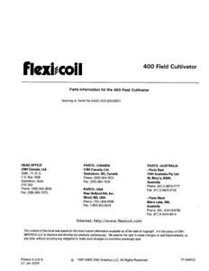 New Holland 400 Field Cultivator Parts Catalog