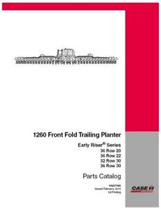 Case Ih Early Riser 1260 Planter Parts Catalog