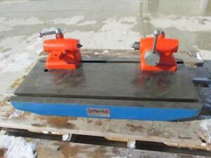 Illinois 265 Precision Bench Test Center 30 X 14 Table 8 1 2 Swing Centers