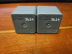 3614 Gm Hella 4 Pin Relay Oem 12193614 Brand New Pack Of 2