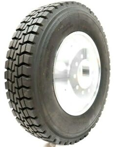 11r 16 Pr Drive Truck Tires 22 5 X 8 25 Forged Aluminum Wheel Rims Mounted 4x