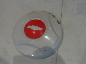 Nos 1966 66 Chevy Dog Dish Hub Cap White Red Bowtie Oem 3875625 Gm