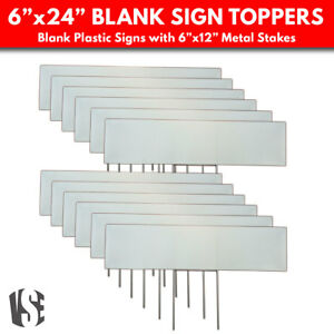 Lawn Sign Toppers Stakes Blank Sign Toppers For Yards Gardens 12 Pack