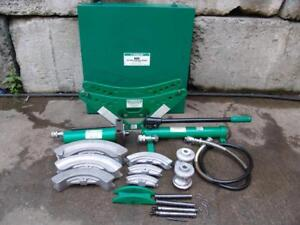 Greenlee 880 Hydraulic Bender 1 2 To 2 Inch Rigid Pipe Works Great