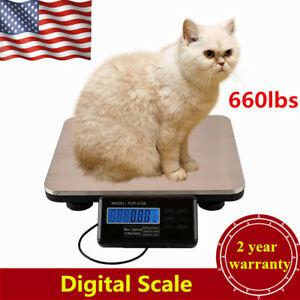 660lbsx0 1lb Digital Floor Bench Platform Scale Shipping Postal Pet Scale 300kg