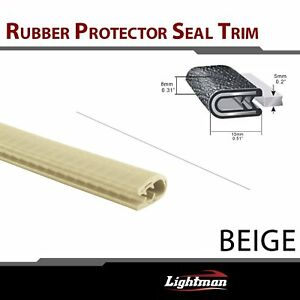 48ft Beige Rubber Seal Strip Trim Anti impact Auto Door Protect Weatherstrip