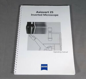 Zeiss Axiovert 25 Inverted Microscope Operating Manual