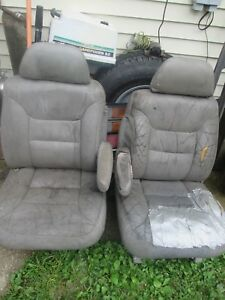 Used 1988 98 Chevrolet Truck Yukon Power Bucket Seat Pair W Bases Need Recovered