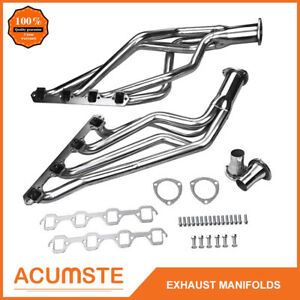 For 66 77 Bronco 289 302 4 7 5 0 V8 Stainless Long Tube Exhaust Manifold Headers