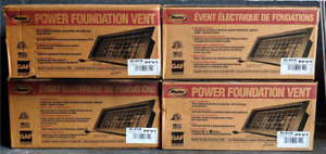 Power Foundation Vent 120 volt Exhaust Fan 16x8 Inch Black Resin