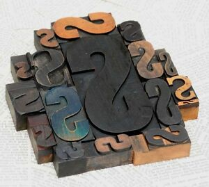 Sssss Mixed Set Of Letterpress Wood Printing Blocks Type Woodtype Wooden Printer