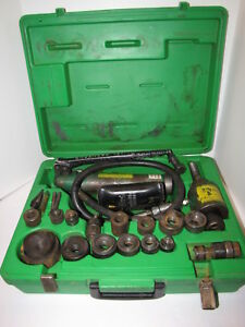Greenlee 767 Slugbuster Hydraulic Knockout 2 To 1 2 Plus Extras And Case