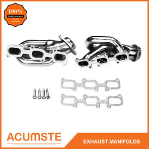 For 11 17 Ford Mustang 3 7 V6 D2c Short Stainless Steel Exhaust Manifold Headers