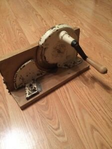 Very Rare Antique Hand Crank Primitive Meat Slicer Cutter Germany