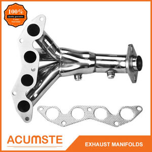 For 2001 05 Honda Civic Dx lx D17a1 1 7l Sohc Exhaust Manifold Headers Ss 4 1