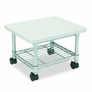 Safco Products Under Desk Printer fax Stand 5206gr Gray Powder Coat Finish For