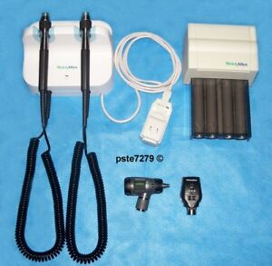 Welch Allyn Gs 777 Set Macroview Otoscope Coaxial Ophthalmoscope Dispenser