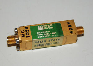 Msc Microwave Semiconductor Mc65127 Solid State Noise Source Mc 7024