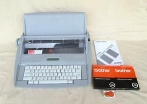 Brother Sx 4000 Portable Typewriter With Lcd Display And Extra Supplies