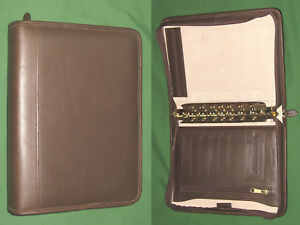Classic 1 0 Brown Top Grain Leather Kirkland Planner Binder Franklin Covey