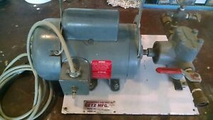 Getz Manufacturing 600 Psi Hydrostatic Test Pump 3 4 Hp 120v