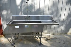 2 Compartment Sink With Prayer Stainless Steel 75