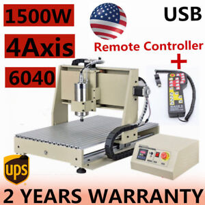 Usb 6040 1500w 4axis Cnc Router Engraver Machine 1 5kw handle Remote Controller