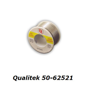 Solder Qualitek 62521 Rma Lead Bearing 2 Percent Silver Content 1 2 Pound Spool