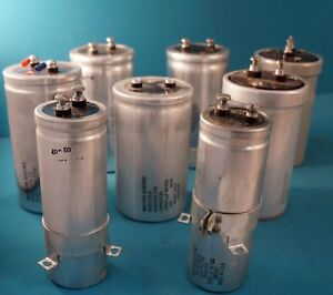 Large Electrolytic Capacitor Assortment Lot Of 8 40 75 Vdc