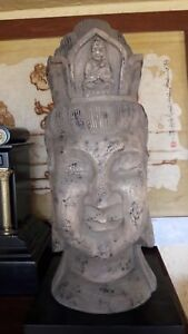 Hand Carved Wood Buddha In Excellent Condition